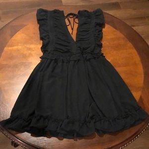 Storia V Neck Sleeveless Ruffle Mini Dress S NWT